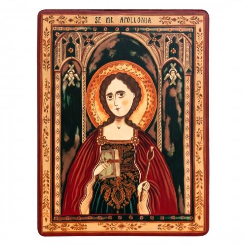"""Wood icon, """"Saint Apollonia"""""""