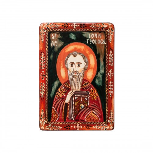 "Wood icon, ""Saint John"", miniature, 7x10cm"
