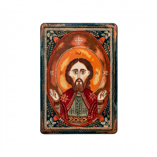 "Wood icon, ""Jesus Christ"", miniature, 7x10cm"