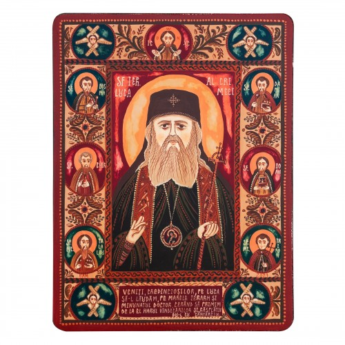 "Wood icon, ""St. Luke, Bishop of Simferopol and Crimea"""