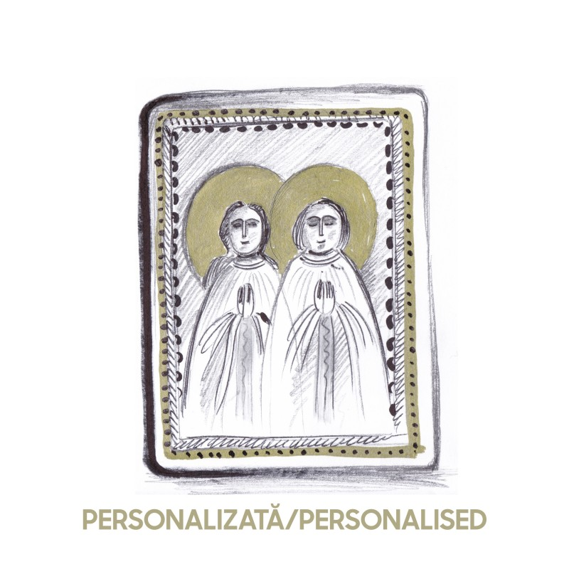 copy of Wood icon, miniature - custom, 7x10cm (2 characters)