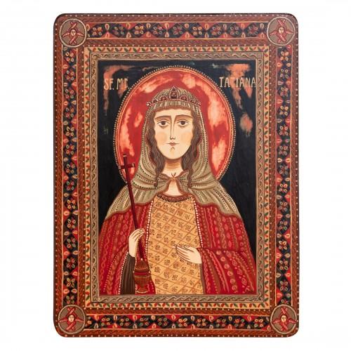 "Wood icon, ""Saint Tatiana"""
