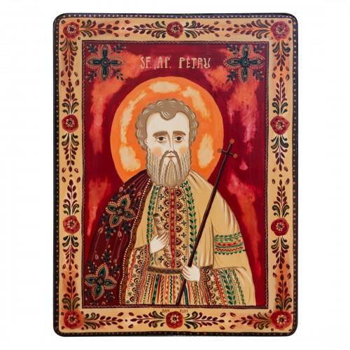 """Wood icon, """"Apostle Peter"""""""