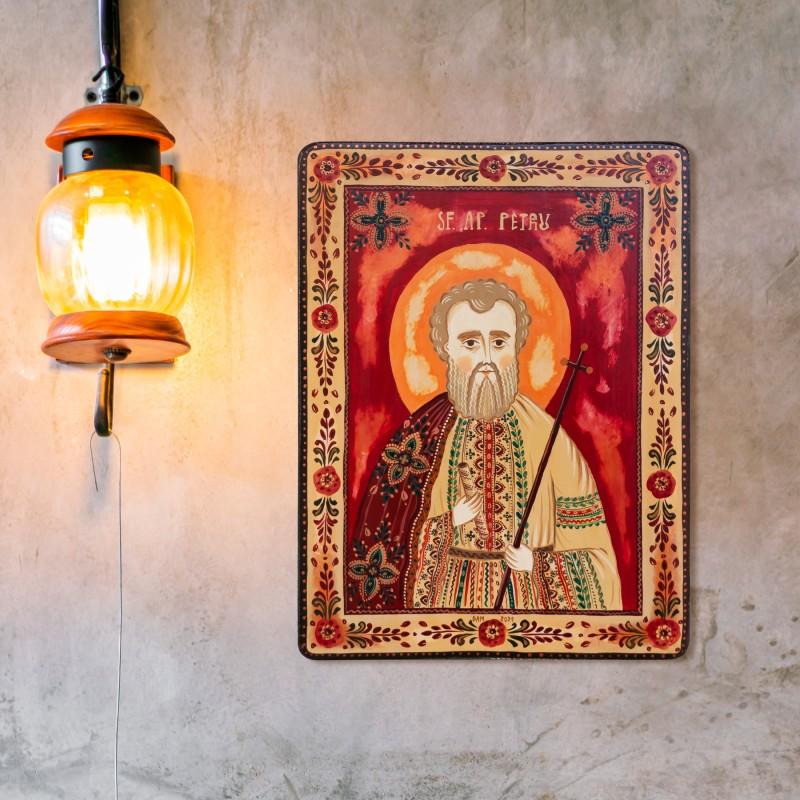 """Icoană pe lemn """"Sfântul Apostol Petru"""""""