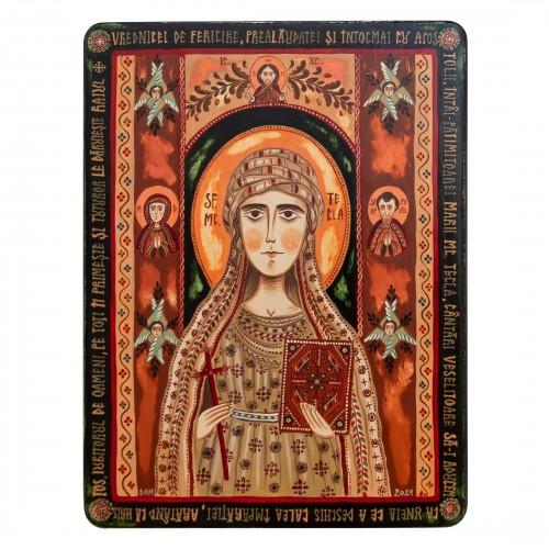 "Wood icon, ""St. Thekla the Protomartyr"""
