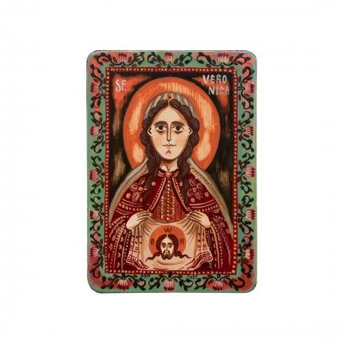 """Icoană pe lemn """"Sfânta Veronica"""", miniatură, 7x10 cm"""