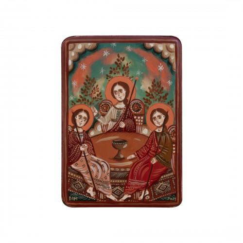 """Icoană pe lemn """"Sfânta Treime"""", miniatură, 7x10 cm"""