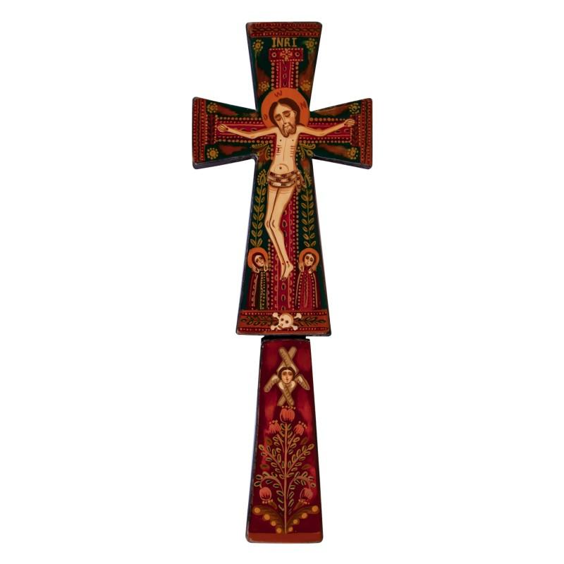Cruce de binecuvântare din lemn, model 1 - 7x20 cm