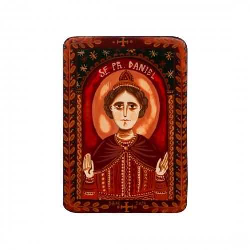 """Icoană pe lemn """"Sf. Proroc Daniel"""", miniatură, 7x10 cm"""