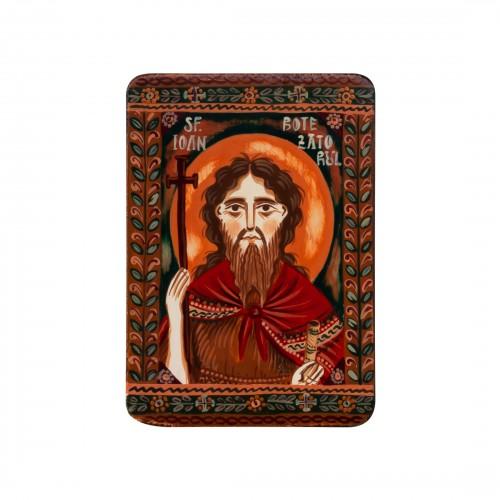 "Wood icon, ""Saint John the Forerunner"", miniature, 7x10cm"