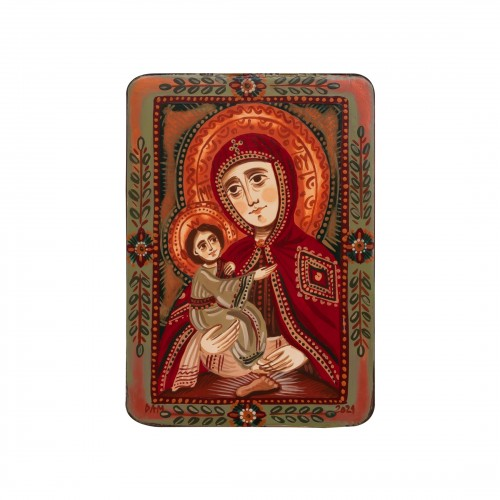 """Icoană pe lemn """"Maica Domnului de la Poceaev"""", miniatură, 7x10 cm"""
