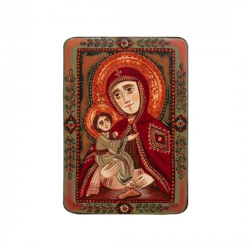 "Wood icon, ""Our Lady of Pochaev"", miniature, 7x10cm"
