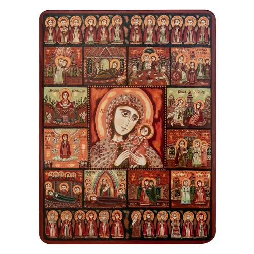 """Wood icon, """"The Holy Virgin's Feasts"""", 30x40 cm"""