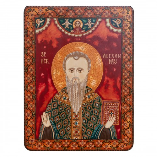 "Wood icon, ""Saint Alexander"""
