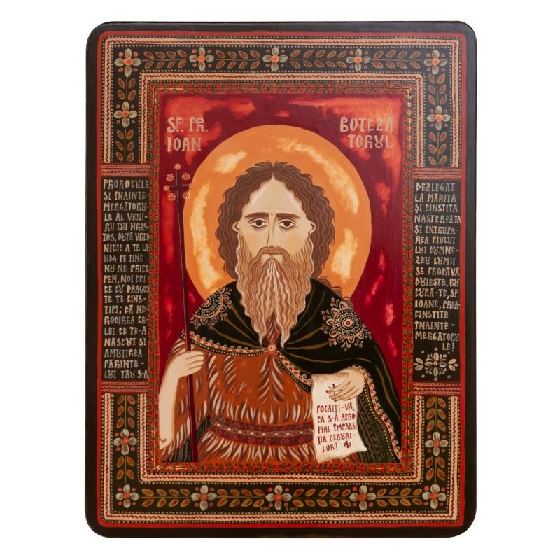 "Wood icon, ""Saint John the Forerunner"""