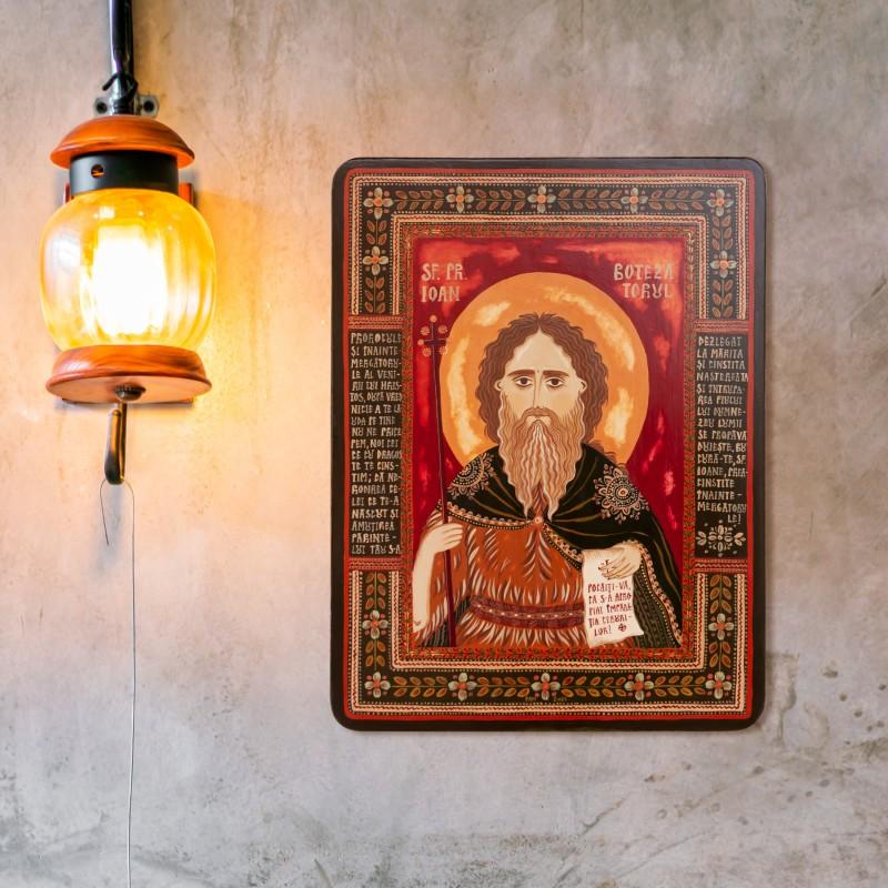 """Icoană pe lemn """"Sfântul Ioan Botezătorul"""""""