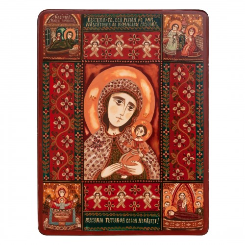 """Wood icon, """"Virgin Mary, Mother of God"""""""
