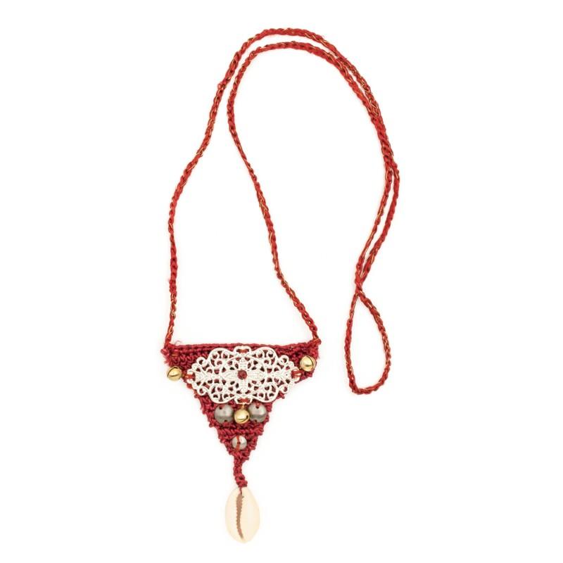 Boho crochet pendant, model 2