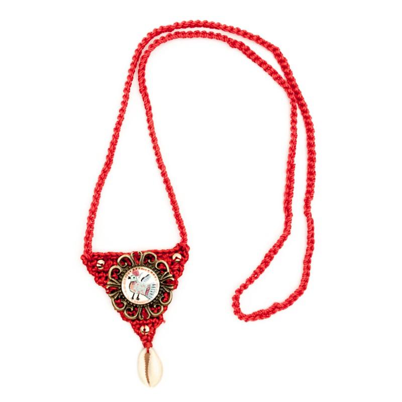 Boho crochet pendant, model 3