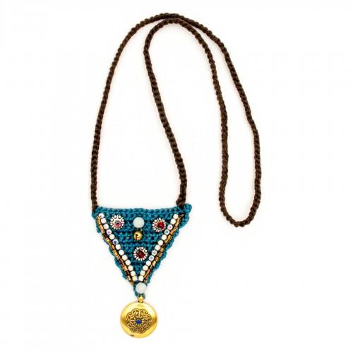 Boho crochet pendant, model 5