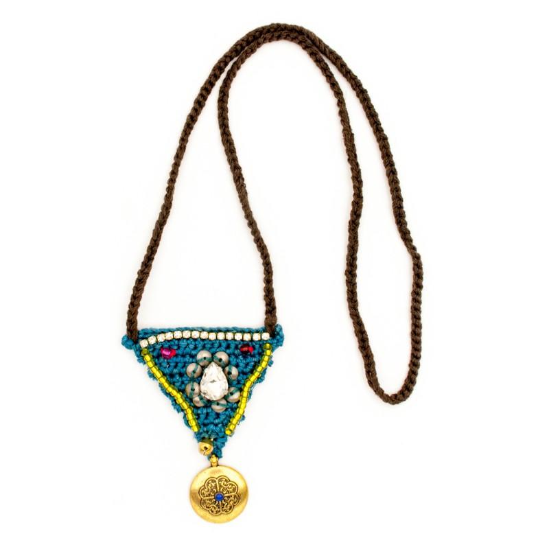 Boho crochet pendant, model 6
