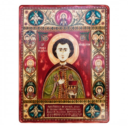 "Wood icon, ""Saint Pantelimon"""