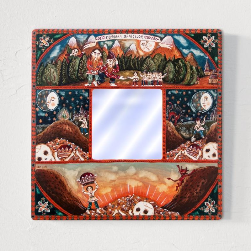 """Tablou cu oglindă, """"Comoara Uriașilor"""", 25x25 cm"""
