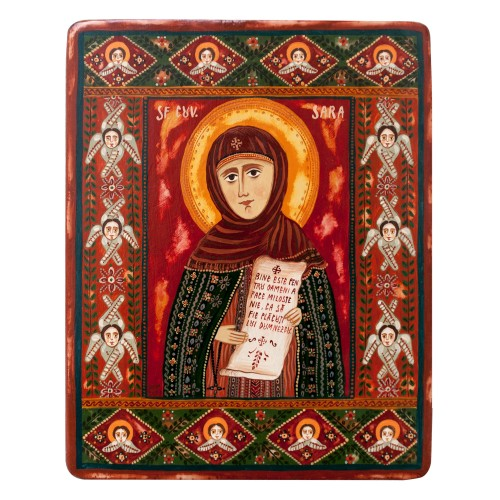 "Wood icon, ""Saint Sarah"""