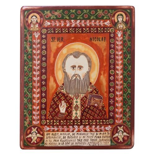 """Icoană pe lemn """"Sfântul Nicolae"""""""