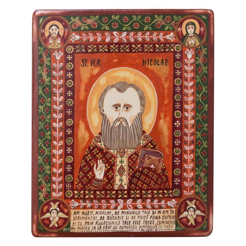 "Wood icon, ""Saint Nicholas"""