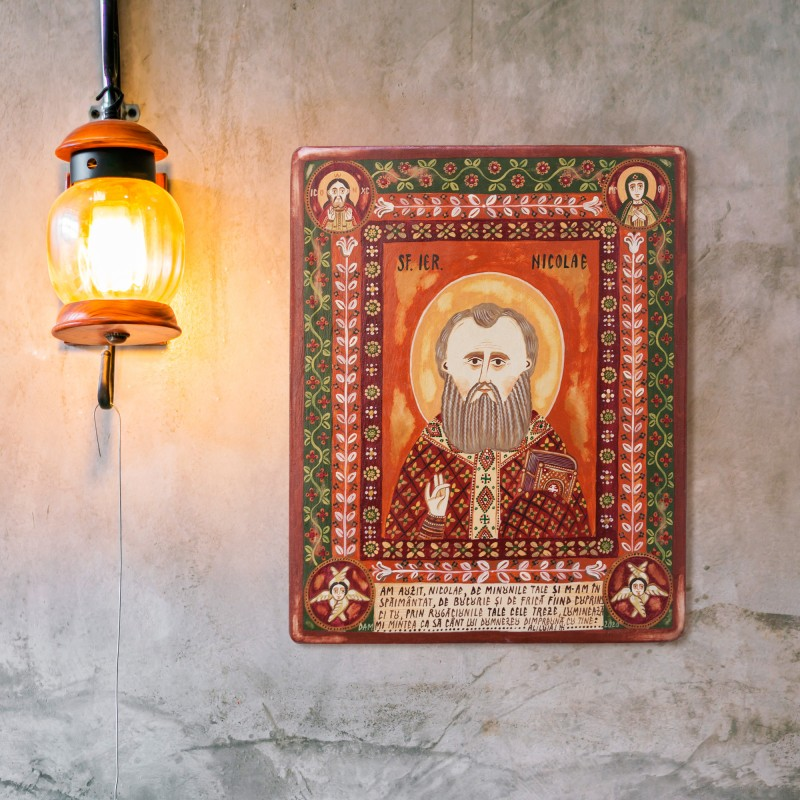 "Wood icon, ""Saint Nicholas"""