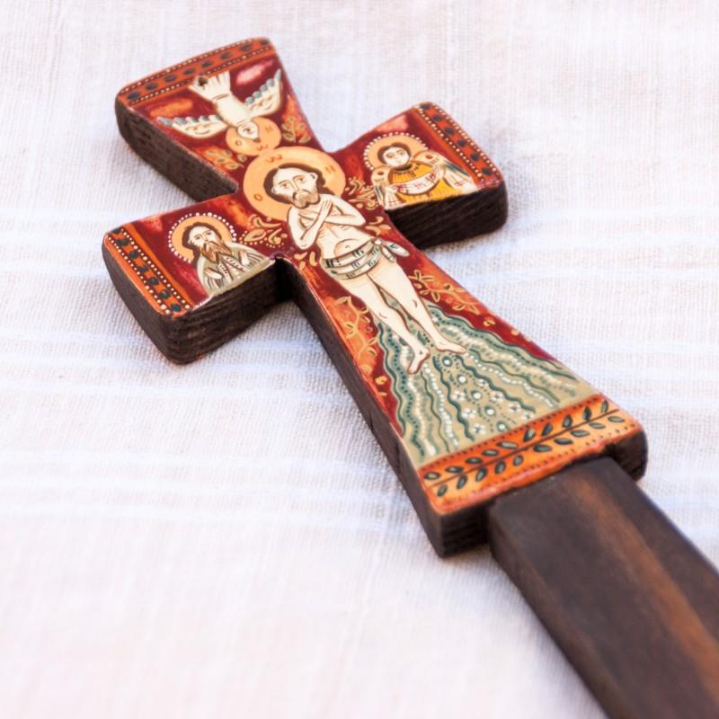 Cruce de binecuvântare din lemn, model 1, 7x20 cm