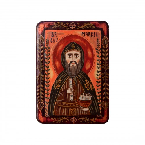 "Wood icon, ""Saint Marcel"",..."