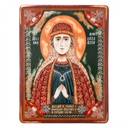 "Wood icon, ""Saint Juliana..."
