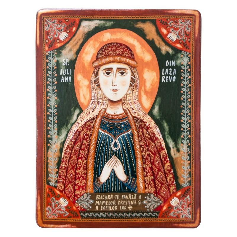 """Icoană pe lemn """"Sfânta Iuliana din Lazarevo"""""""