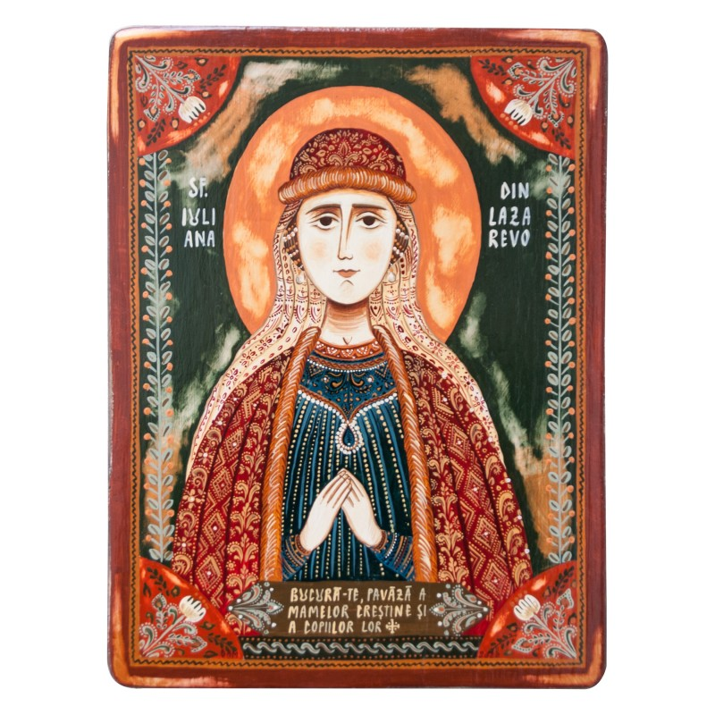 "Wood icon, ""Saint Juliana of Lazarevo"""
