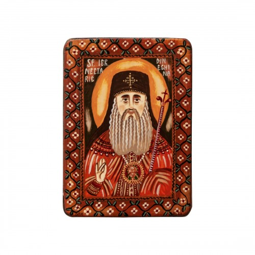 "Wood icon, ""Saint Nectarios..."
