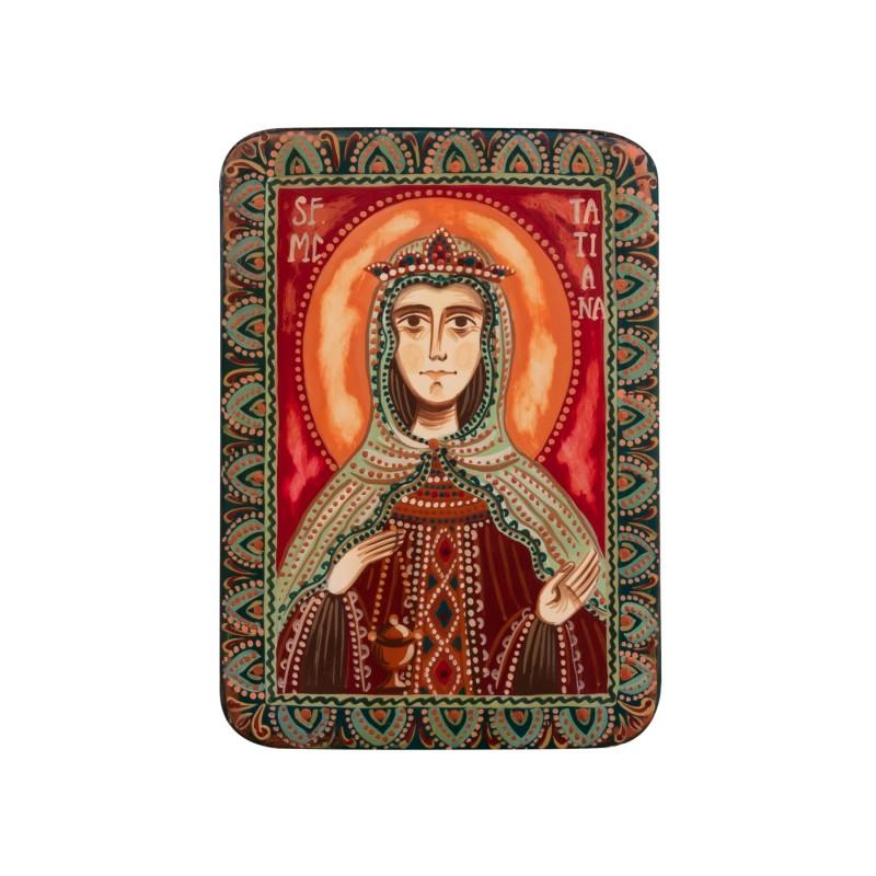 """Icoană pe lemn """"Sfânta Muceniță Tatiana"""", miniatură, 7x10 cm"""