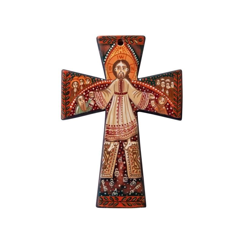 Cruce pectorală din lemn, model 1 - 7x10 cm