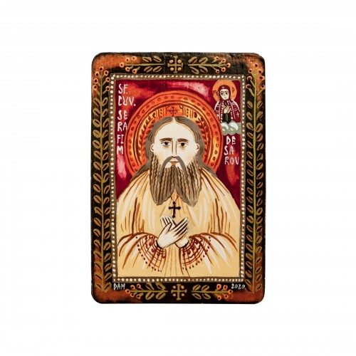 "Wood icon, ""Saint Seraphim..."
