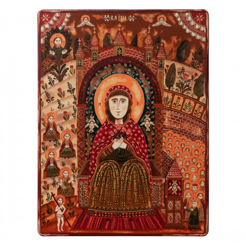 "Wood icon, ""Virgin Mary in..."