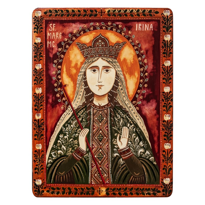 "Wood icon, ""Saint Irene of Thessaloniki"""
