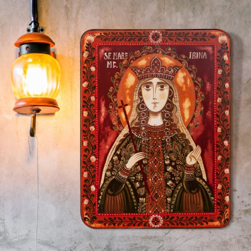 """Icoană pe lemn """"Sf. Irina din Maghedon"""""""