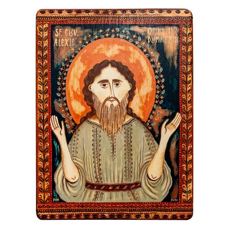 """Icoană pe lemn """"Sf. Alexie, omul lui Dumnezeu"""""""