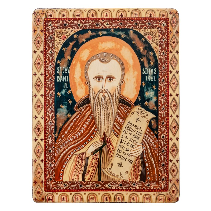 "Icoană pe lemn ""Sfântul Daniil Sihastrul"""