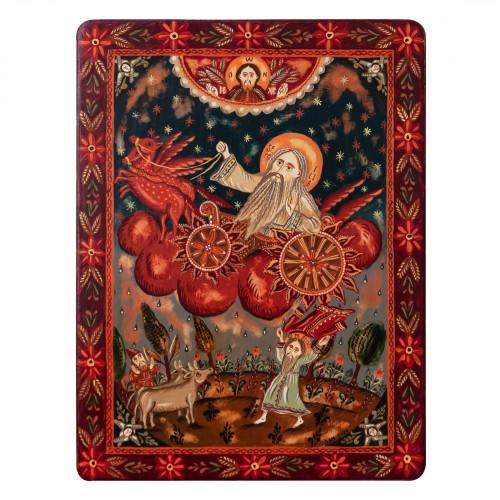 """Icoană pe lemn """"Sf. Proroc Ilie Tesviteanul"""""""