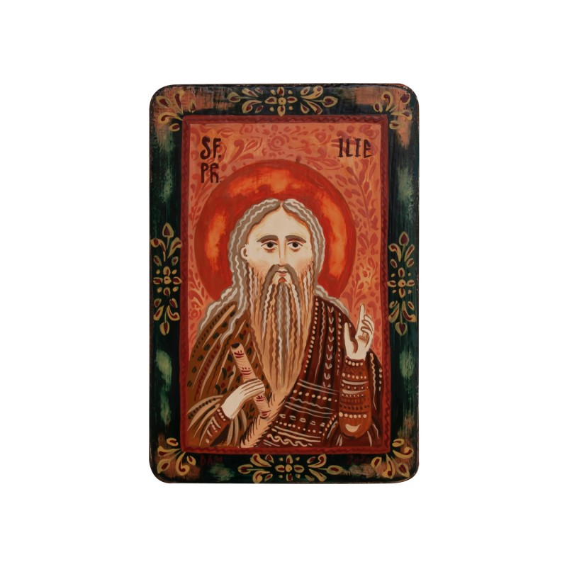 "Wood icon, ""Saint Elijah, miniature, 7x10cm"