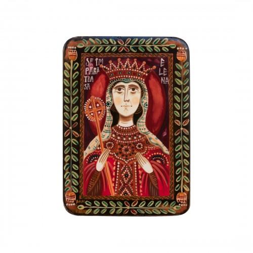 """Icoană pe lemn """"Sfânta Împărăteasă Elena"""", miniatură, 7x10 cm"""
