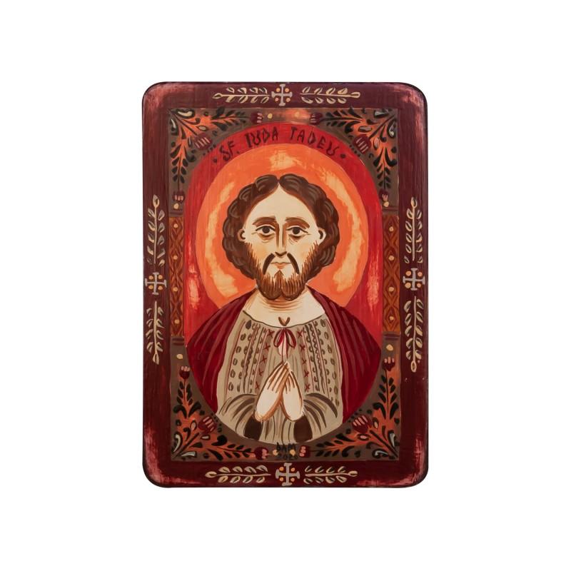 """Icoană pe lemn """"Sf. Apostol Iuda Tadeu"""", miniatură, 7x10 cm"""