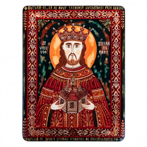 "Wood icon, ""Saint Stephen the Great"""